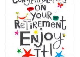 Retirement congratulations 1