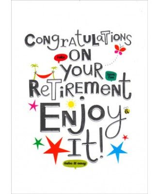 Retirement congratulations 1