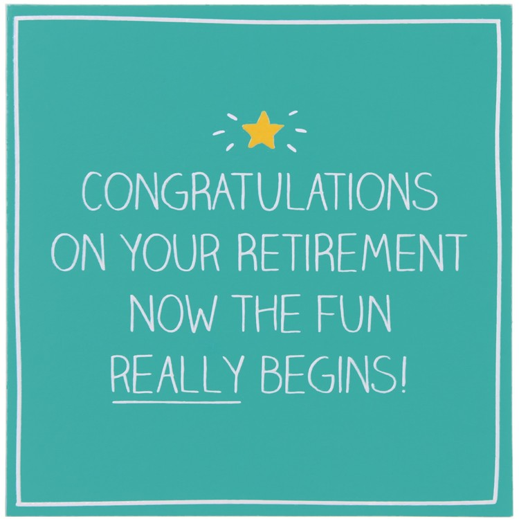 Retirement congratulations 2
