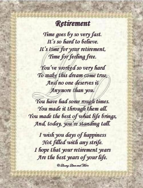 Retirement poems 2