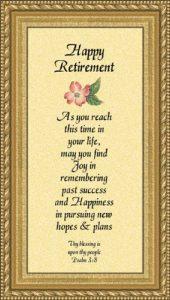 Retirement poems 5