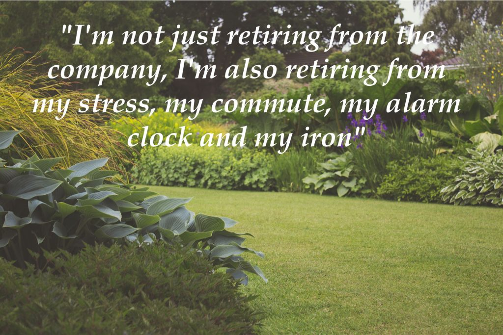 retirement quotes for a retirement card