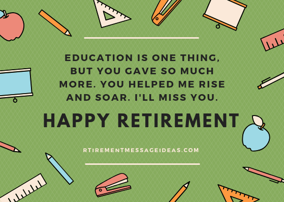 Happy Retirement Wishes for Teachers
