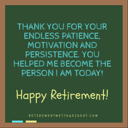 Retirement Wishes for Teachers 1