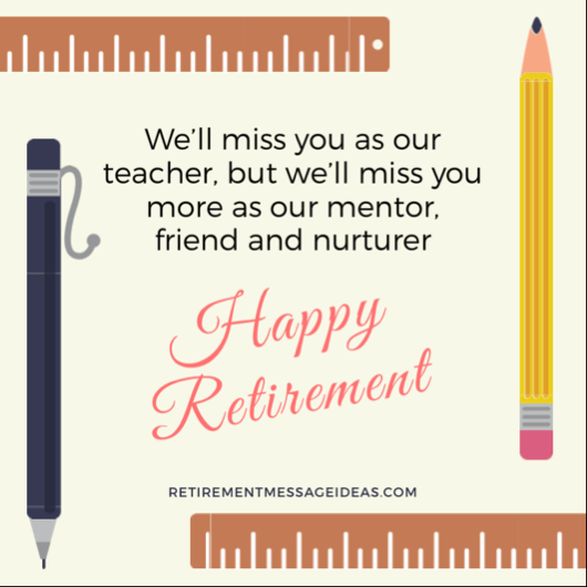 Retirement Message for Teacher