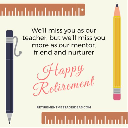 Retirement Message for Teacher